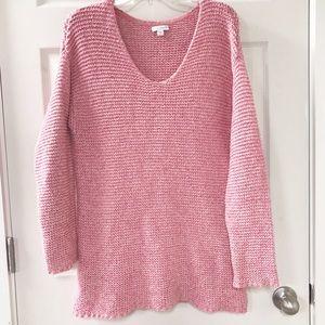 Pure Jill J.Jill Oversized Pink Sweater